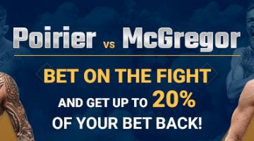 1xBet is offering a risk-free bet on McGregor vs Poirier duel